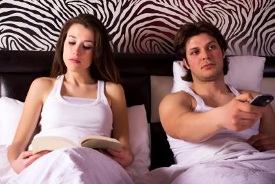 Fernsehen statt Sex- Keine Lust